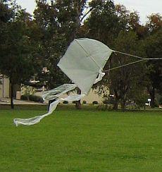 Mini Sled Kites - original 1-Skewer Sled in clear plastic