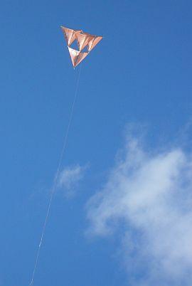 Skewer Tetrahedral kite flight report