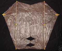The Dowel Sled Kite - back view