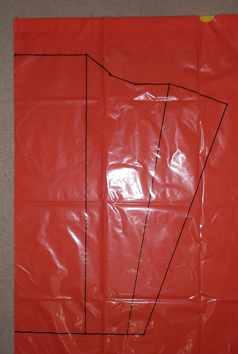 The Soft Sled kite - sail outline and seams