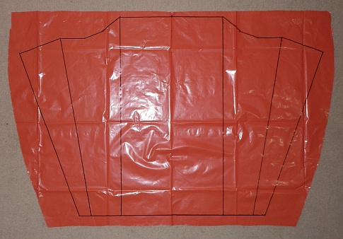 The Soft Sled kite - complete sail outline.