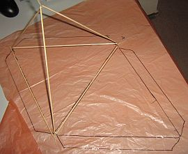Making tetrahedral kites - step 6