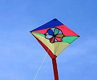 A colorful Diamond kite for kids.