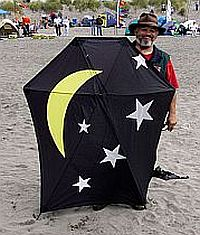 A large home-made Barn-Door kite.